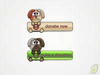 Donate Buttons Free PSD