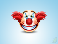 Clown Icon - Free PSD and PNG