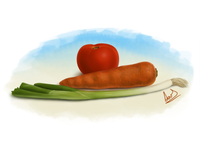 Vegetables Digital Painting