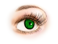 Eye digital painting