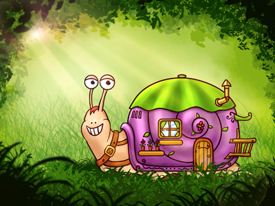 Snail - digital painting snail digital painting nelutu decean photoshop illustration