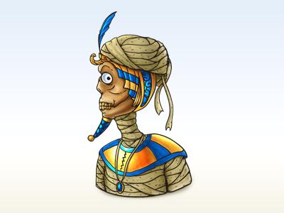 Mummy mummy icon illustration digital painting nelutu decean photoshop