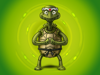 Turtle Master - Digital Painting turtle master martial arts digital painting photoshop nelutu decean illustration