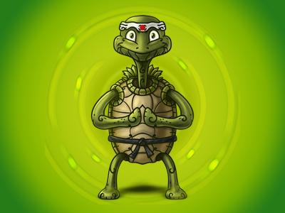 Turtle Master - Digital Painting turtle master martial arts digital painting photoshop nelutu decean illustration