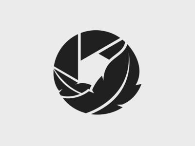Photography Studio Logo vecor icon camera icon feather shutter logodesign camera branding and identity branding logo photograhy