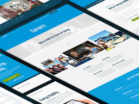 COzero responsive website