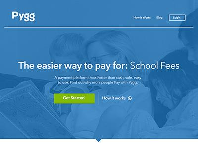 Pygg homepage homepage blue nexa avenir app tabs pattern startup rebrand web pollenizer