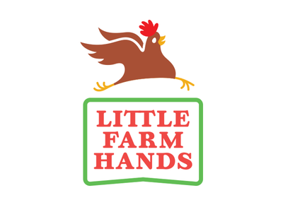 Little Farm Hands 2.0 hands farm little chick happy running illustration chicken