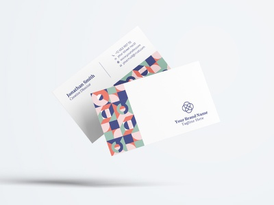Abstract Geometric Business Card luoffa clean business card white space minimalist business card card template modern minimalist business card