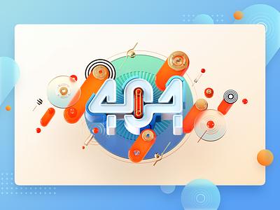 3D Page 404 404 error red blue glass c4d 404 web web page 3d