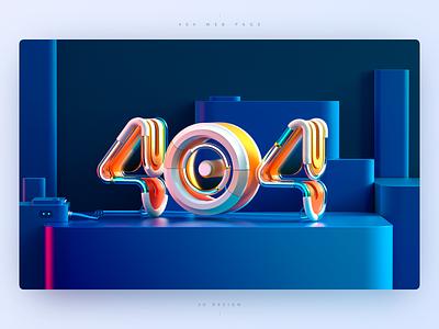 404 web page glass number wire light orange web page website 404 error 404 blue web c4d 3d