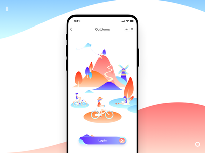 Outdoor party APP mountaineering on foot outdoor social make friends party life illustration app ui outside