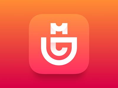 Shopping APP Logo mall icon red logo app