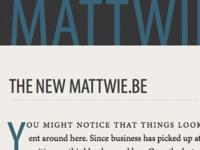 mattwiebe.com → mattwie.be
