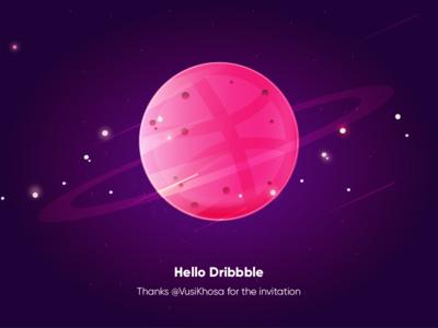 Hello Dribbble dribbble debut first shot hello dribbble