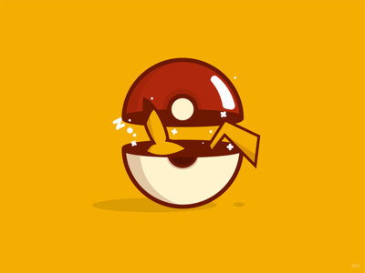 Pikachu Catching Zzz  sleeping nap pokeball poke ball pokémon pokémon go pokemongo pikachu