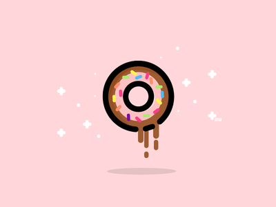 Doughnut dripping pink donut doughnut