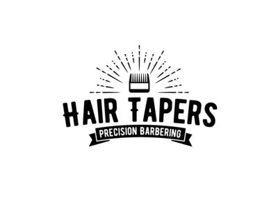 Hair Tapers Logo logo brush cut fade taper barber logo barber