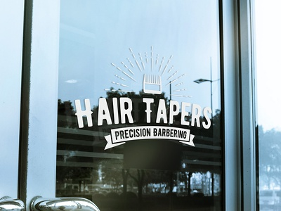 Hair Tapers Window Mockup