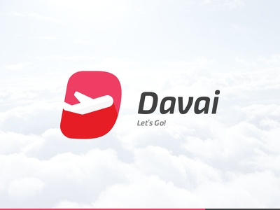 Davai travel agency take off south africa sign logo identity flight icon corporate branding brand airplane
