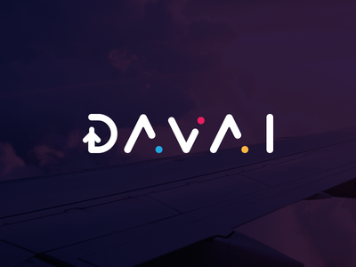Davai Travel Agency travel agency take off south africa sign logo identity flight icon corporate branding brand airplane