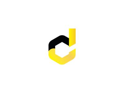 D dust monogram logo letter d mining