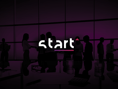 Start Logo up go conference start wordmark lettermark logo