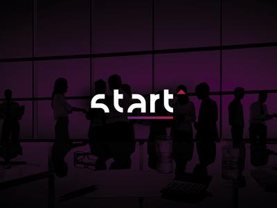 Start Logo up go conference start wordmark lettermark logo