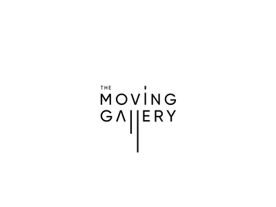 The moving gallery logo