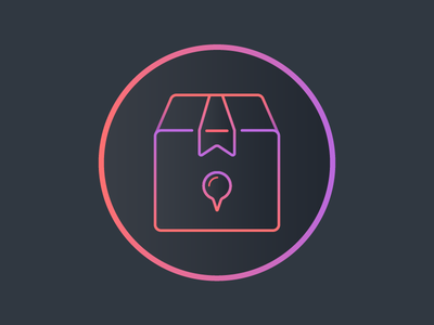 Inventory Management App Icon 3 courier parcel management magnifier logo khuzema ios inventory illustration icon box neon
