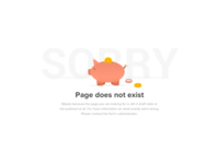 404 Page not found screen