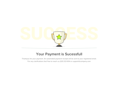 Payment Sucess Popup