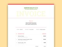 Designer Invoice 2
