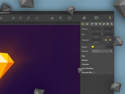 Sketch Dark UI Version 2 ux minimal clean ui theme sketch redesign khuzema interface improved dark