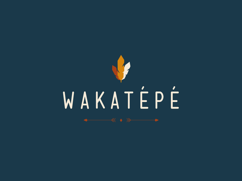 WAKATEPE brittany tepee france rennes ecologic clothes illustration organic shop arrow identity feather indian wakatépé vector logo illustrator design branding
