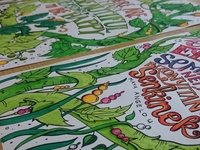 Hand drawn coloring sheets