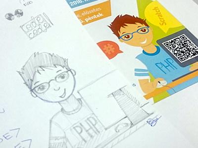 :: poster :: programming contest illustrator sketch doodle vector