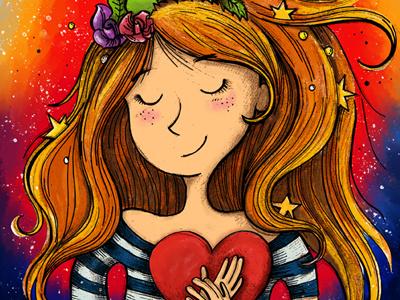 Listen to your heart (final version) photoshop heart coloring illustration wacom digital