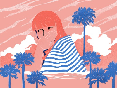 Summertime daydream flat procreate character summer design color illustration