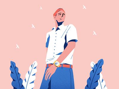 Taste of summer character procreate summer design color flat illustration