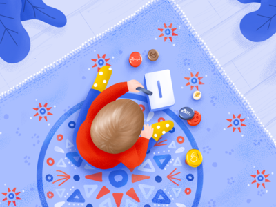 Jar caps game illustration