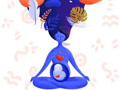 Lovingkindness for Pregnancy mom mother meditation heart birth kindness love pregnant woman mindfulness character procreate