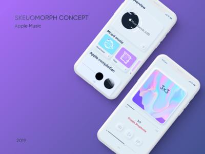 Skeuomorph concept Apple Music App