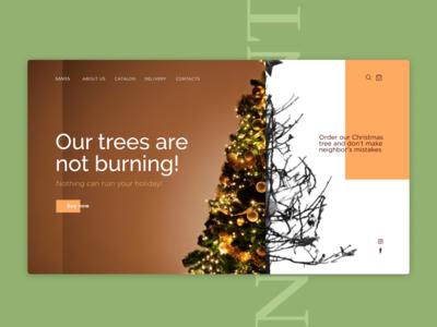 Cristmas tree shop concept