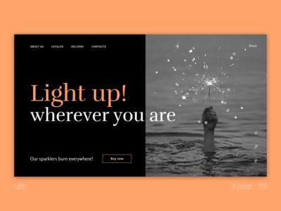 Main Page E-commerce Ui design web site