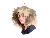 Portrait woman illustration