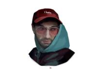Men digital portrait illustration
