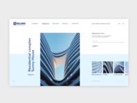 Redesign architect web site concept