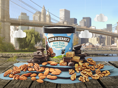 Ben & Jerry's - New York Super Fudge Chunk Photograph singapore brand branding social media composition layout photography pen paper sketch ice cream ben and jerrys