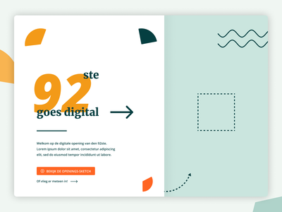 Interactive landing page design event interactive colors design web typography
